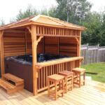 Echo Gazebo with hottub (stairs and stools not included)
