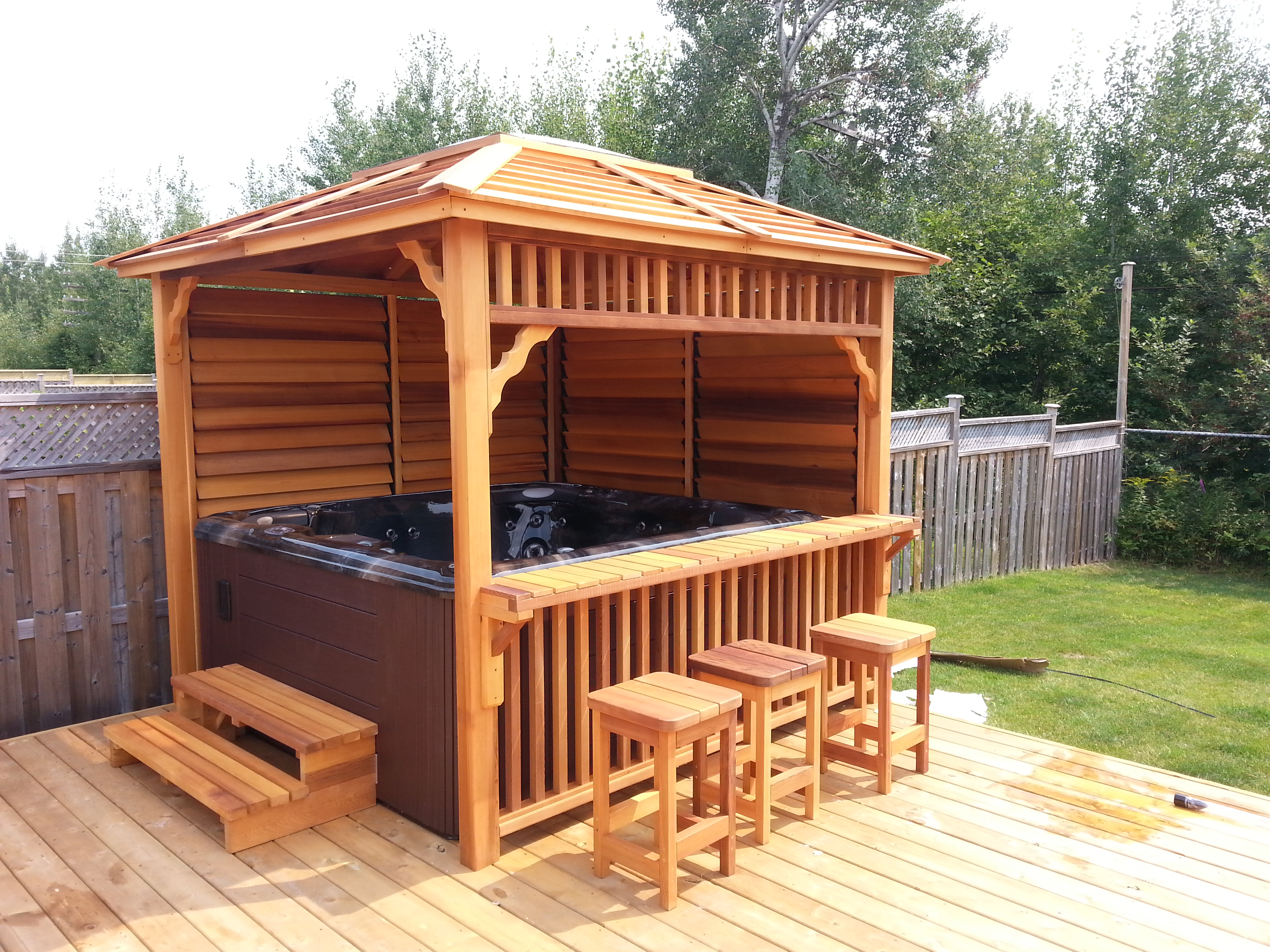 Echoe Gazebo 171 Barrel Saunas Gazebos And Log Furniture
