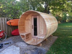 Knotty Barrel with porch