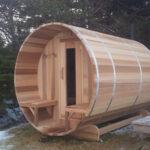 6 x 8 Red Cedar Sauna with optional porch