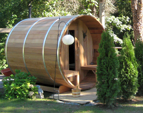 Red Cedar Barrel Sauna 6x6 Dundalk Canada Barrel