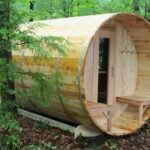 6 x 8 Barrel Sauna with Optional Porch