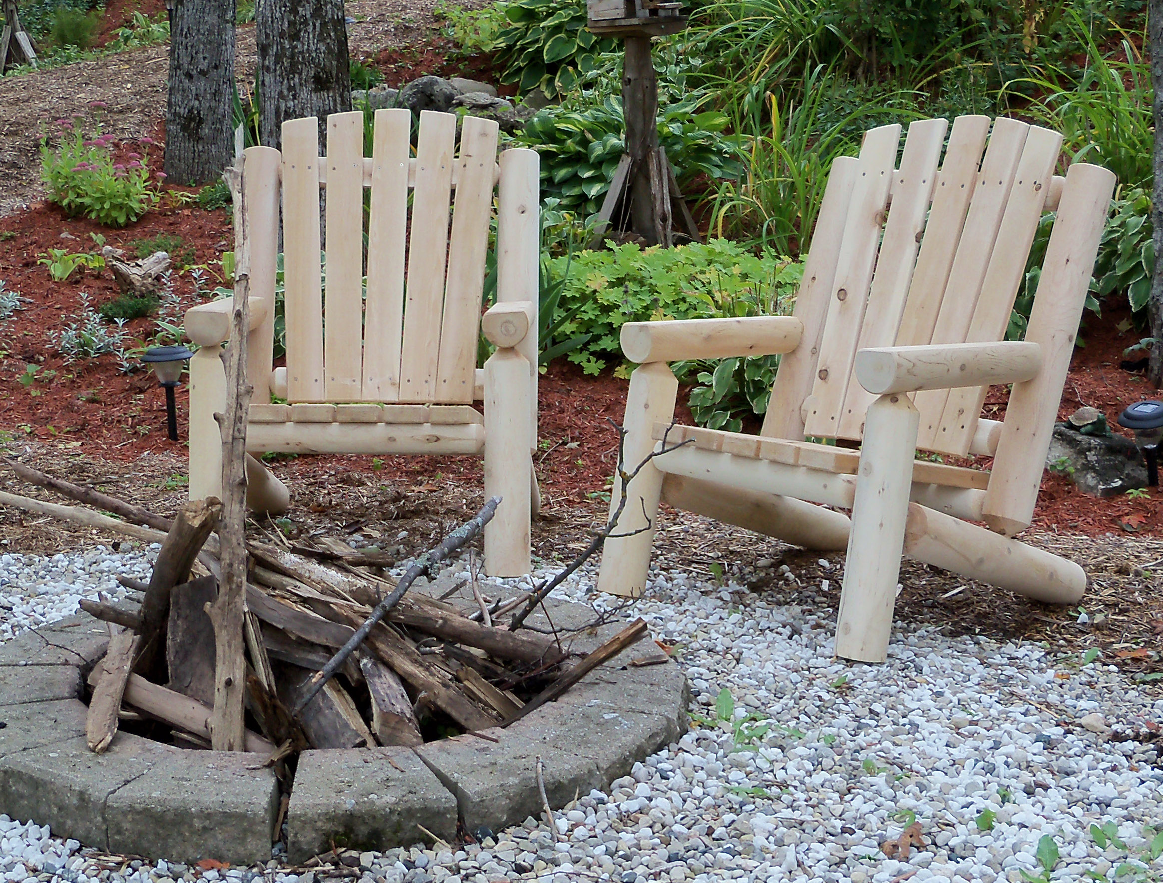 Adirondack Log Chair Barrel Saunas Gazebos And Log Furniture And