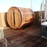 Red Cedar Barrel Sauna 7 x 6