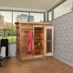 Indoor Red Cedar Sauna