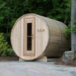 Knotty Cedar Barrel Sauna