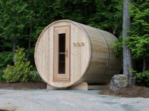 Knotty Cedar Barrel Sauna