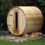 6x6 Knotty Cedar Barrel Sauna