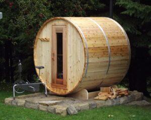 Knotty Barrel Sauna