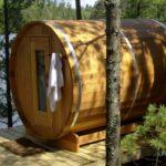 6x7 Red Cedar Barrel Sauna