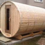 7x8 Knotty Barrel Sauna