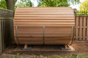 Bevel barrel Sauna roof