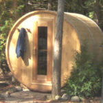 7x6 Knotty Cedar Barrel Sauna