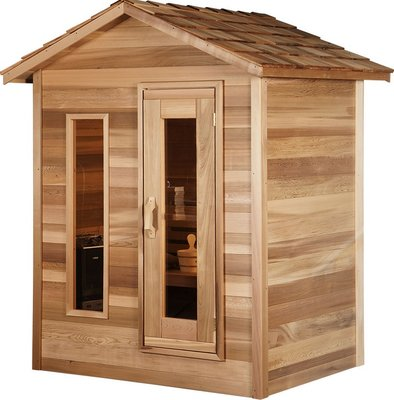 Outdoor red cedar cabin sauna 6x8 dundalk canada for Log cabin furniture canada