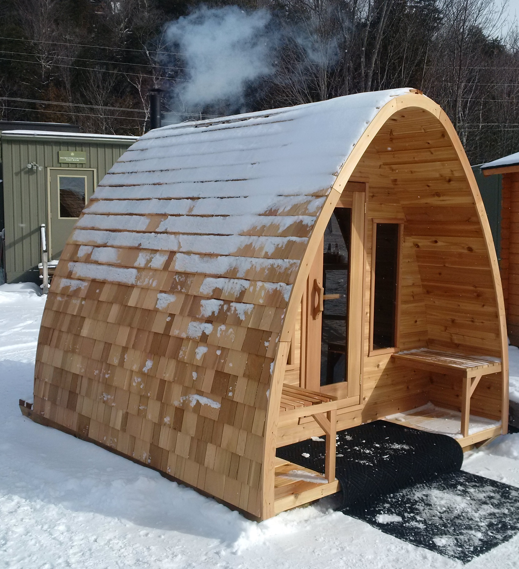 pod sauna from canada 39 s leading leisure company barrel saunas gazebos and log furniture and. Black Bedroom Furniture Sets. Home Design Ideas
