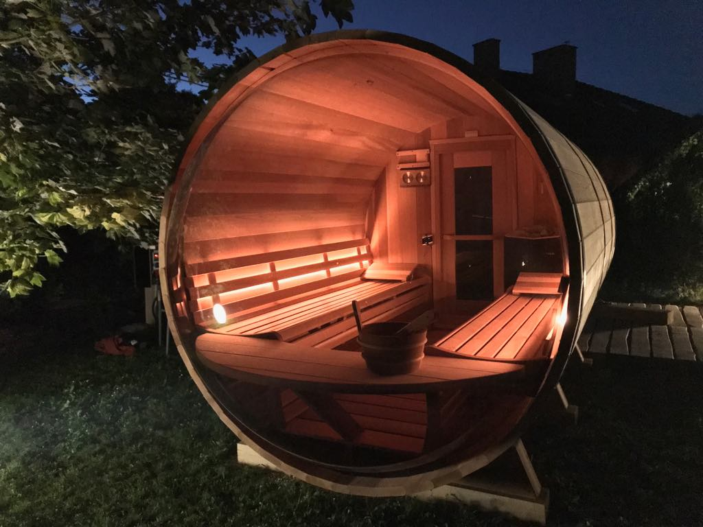 Panoramic View Barrel Sauna 74 Quot X 8ft Dundalk Canada
