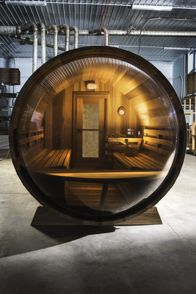 Panoramic View Barrel Sauna